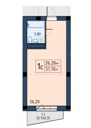Продажа недорогих 1-2-3 комнатных апартаментов Comfort-класса в 10 минутах пешей. Голосеево, Киев, Киевская область. фото 9