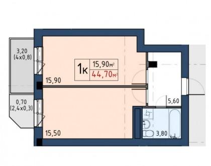 Продажа недорогих 1-2-3 комнатных апартаментов Comfort-класса в 10 минутах пешей. Голосеево, Киев, Киевская область. фото 10