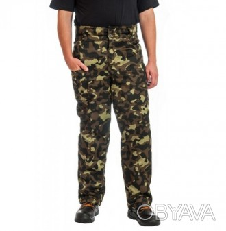 Мужские брюки камуфлированные ватные