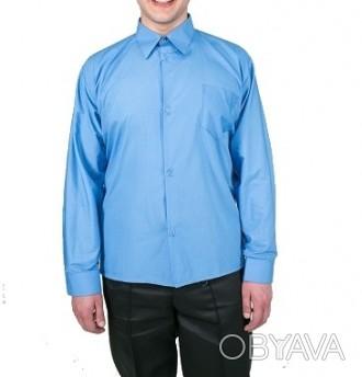 Рубашка с длинным рукавом. Цвет голубой.