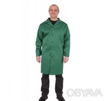 Мужской рабочий халат зеленый