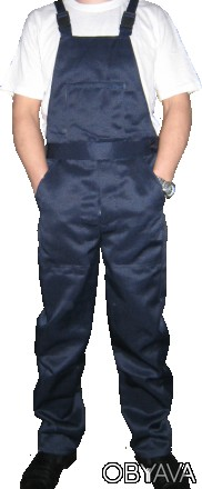 Синий рабочий полукомбинезон