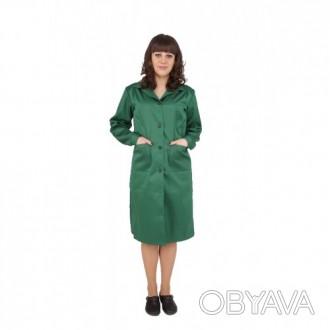 Зеленый рабочий халат