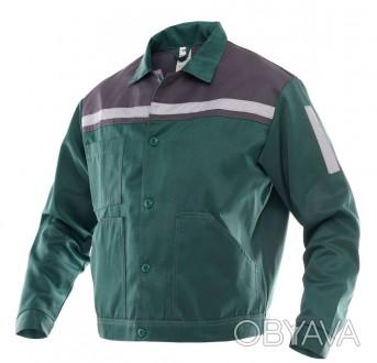 Куртка рабочая мужская зеленая укороченная