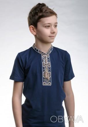 Детская футболка с вышивкой в украинском стиле «Казацкая