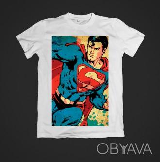Футболка женская с принтом Superman