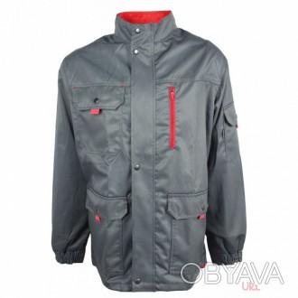 Серая удлиненная куртка