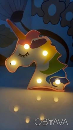 Украина. Николаев. Новый! Светильник в форме единорога. Работает от 2х пальчиков. Николаев, Николаевская область. фото 1