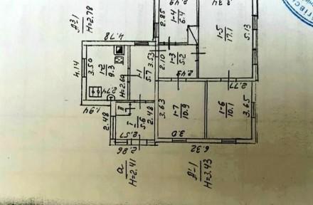 ...Часть дома общей площадью 71 м2, кухня 9м2, участок  правильной прямоугольной. Молокозавод, Чернигов, Черниговская область. фото 4