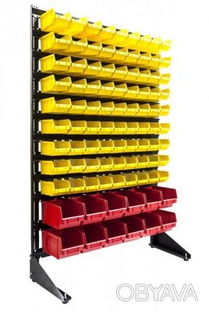 Стеллаж для саморезов с ящиками пластиковыми для склада Ивано-Франковск