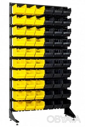 Универсальный стенд с пластиковыми ящиками для запчастей на СТО, базу Кривой Рог