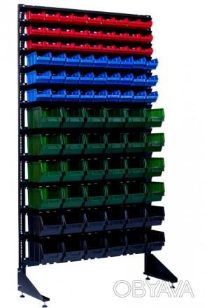 Односторонний или двусторонний стеллаж с ящиками под метизы Кропивницкий