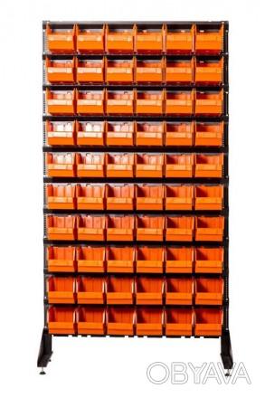 Стеллаж метизный с пластиковыми ящиками для крепежа Николаев