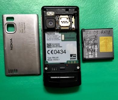 """Продаётся телефон Nokia-6500 Slide слайдер 2.2"""" камера 3.2мп 900мАч 3G. Ра. Киев, Киевская область. фото 7"""