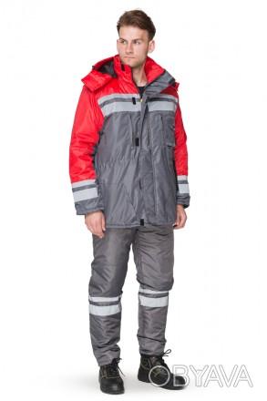 куртка рабочая красная