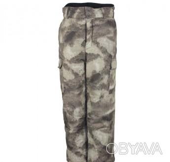Камуфлированные утепленные брюки