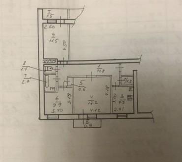 Продам 3-комнатную чешку с автономным отоплением в кирпичном доме на Араратской,. Индустриальный, Днепр, Днепропетровская область. фото 11