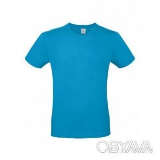 Рабочая хлопковая футболка бирюза