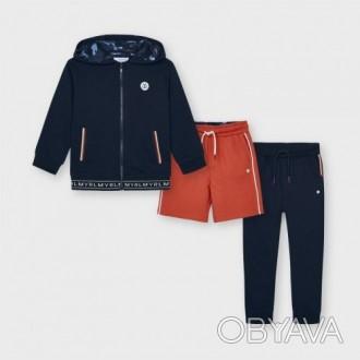 Спортивный костюм Майорал (Майорал) на мальчика сине-оранжевый оттенок