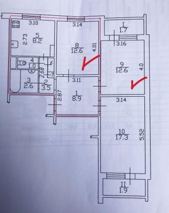 Якщо у Вас обмежений бюджет, але необхідно придбати дві житлові кімнати, то це в. Нива рынок, Чернигов, Черниговская область. фото 5