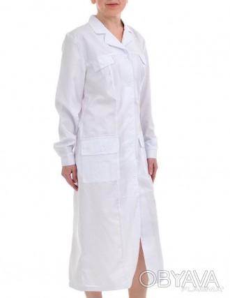 Женский халат рабочий белый