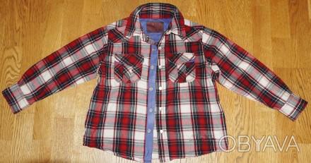 Рубашка -Next- детская на 6-7 лет 116-118 см, хлопок, кнопки