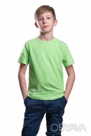 Детские футболки однотонные унисекс в розницу Фисташковая, 32