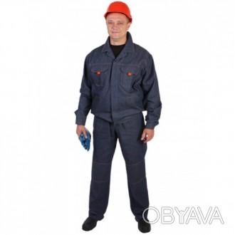 Джинсовый рабочий костюм с брюками