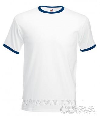 Футболка мужская  летняя, мужская футболка брендовая Белый / Темно-Синий, Новое,