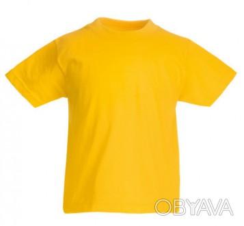 Детская футболка от 3 до 15 лет Fruit of the loom Kids солнечно-желтый, 5-6