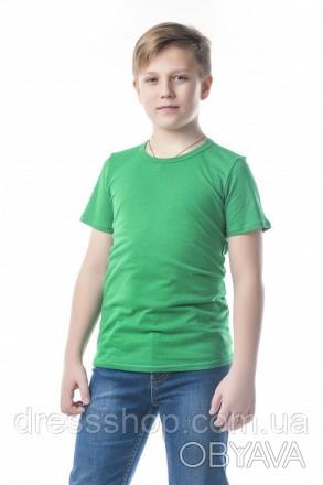 Детские футболки однотонные унисекс в розницу зеленый, 32