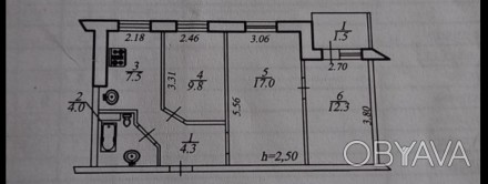 Квартира в жилом советском состоянии, под ремонт, комнаты 2+1, сан узел в кафеле. Победа-1, Днепр, Днепропетровская область. фото 1