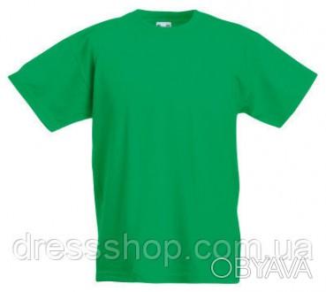 Детская футболка от 3 до 15 лет Fruit of the loom Kids ярко-зеленый, 9-11