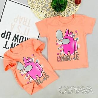 футболка амон ас персиковый