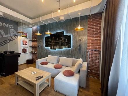Продажа квартиры жк Риверстоун и 51.6м2, вид на Днепр -ремонт в стиле Лофт -отде. Позняки, Киев, Киевская область. фото 2