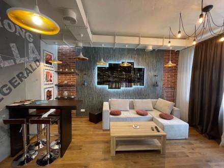 Продажа квартиры жк Риверстоун и 51.6м2, вид на Днепр -ремонт в стиле Лофт -отде. Позняки, Киев, Киевская область. фото 3