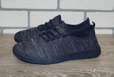 Женские синие кроссовки, размеры: 36-41