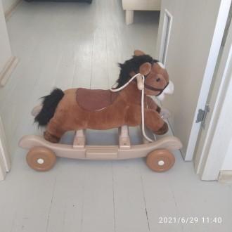 Многофункциональная лошадка-качалка с колесиками станет любимицей вашего крохи. . Киев, Киевская область. фото 3