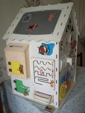 Развивающий домик (бизидом) – многофункциональная развивающая игрушка для . Запорожье, Запорожская область. фото 9