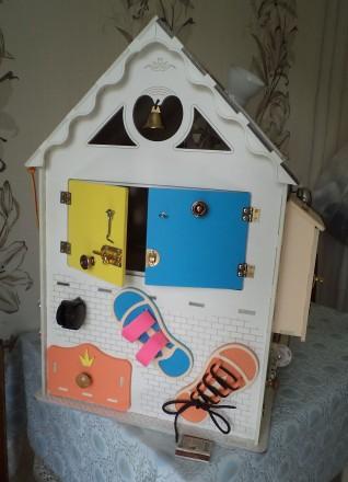Развивающий домик (бизидом) – многофункциональная развивающая игрушка для . Запорожье, Запорожская область. фото 6