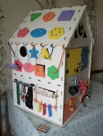 Развивающий домик (бизидом) – многофункциональная развивающая игрушка для . Запорожье, Запорожская область. фото 4