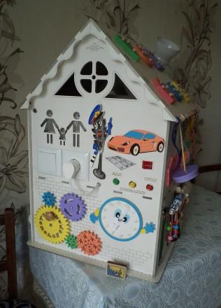 Развивающий домик (бизидом) – многофункциональная развивающая игрушка для . Запорожье, Запорожская область. фото 3