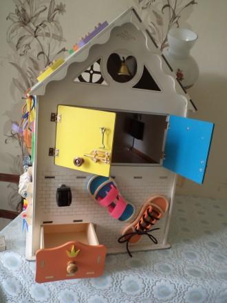 Развивающий домик (бизидом) – многофункциональная развивающая игрушка для . Запорожье, Запорожская область. фото 5