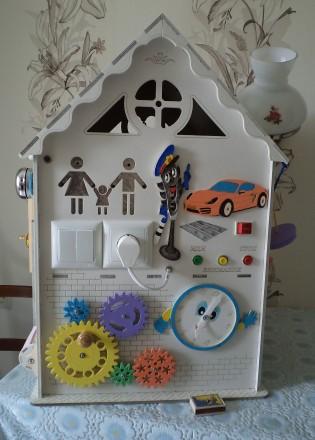 Развивающий домик (бизидом) – многофункциональная развивающая игрушка для . Запорожье, Запорожская область. фото 10