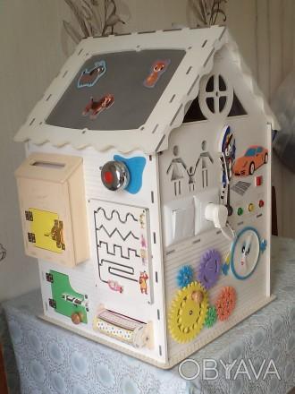 Развивающий домик (бизидом) – многофункциональная развивающая игрушка для . Запорожье, Запорожская область. фото 1