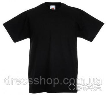 Детская футболка от 3 до 15 лет Fruit of the loom Kids черный, 7-8