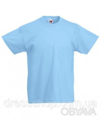 Детская футболка от 3 до 15 лет Fruit of the loom Kids голубой, 5-6