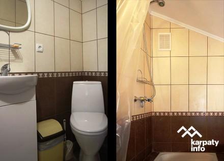 На першому поверсі — обладнана кухня, кімнати господарів, санвузол (туалет, умив. Сколе, Львовская область. фото 12