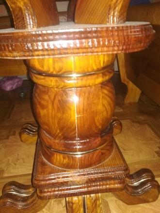 Деревянный стол на кухню б/у в отличном состоянии размер110 на 60см столешница м. Чернигов, Черниговская область. фото 3