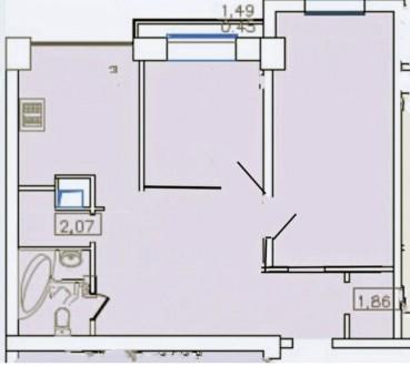 Двухкомнатная квартира в ЖК «8 Жемчужина» на Французском бульваре. Расположена н. Приморский, Одесса, Одесская область. фото 9